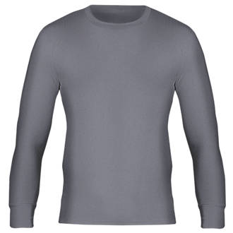 """Workforce WFU2600 Long Sleeve Thermal T-Shirt Baselayer Grey Large 36-38"""" Chest"""